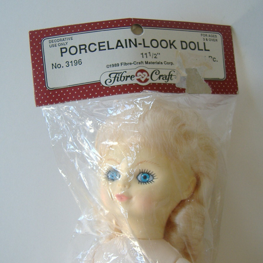 Fibre craft porcelain look doll decorative doll 11 5 inch for Fibre craft 18 inch doll