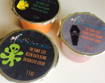 Dark side bath bombs color crazy