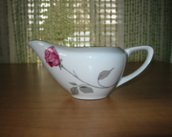 "Vintage Contour Treasure Pink Roses China by Japan ""Creamer"""