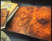 Marauder's Map Inspired - Leather Keelindori Travelers Notebook