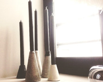 """Candleholders in concrete """"Cheops"""". Concrete candlestick """"Cheops"""""""