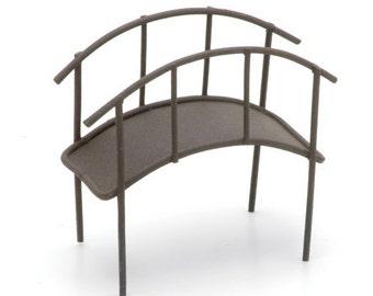 Metal Garden Bridge - Rusty Color -3.5 x 3.25 x 1.75 inches    6614-309