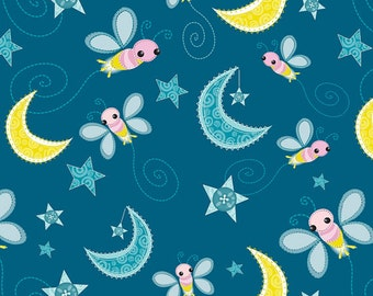Camelot Cottons - Blue Fireflies from Dream A Little Dream Collection #6140606-1