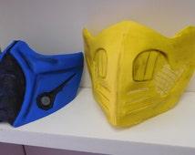 3Dprinted Mortal Kombat Masks Subzero Or Scorpion FREE SHIPPING to US