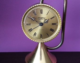 Vintage 1960' French Mechanical Alarm Clock.Brand: MATY - BESANCON