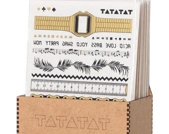 TATATAT temporary tattoos - Klebetattoos. Bracelet set by D.Bizer & C.Wolff