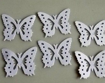 Craft Supply Die Cuts /Cardstock White Butterfly Scrapbooks Supply Wedding Decor Home Decor 30 Pieces/Wall Decor/Cup Cake Topper supply
