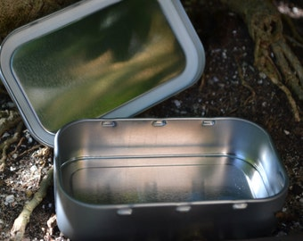 1oz Bush Craft/Camping Storage Tin Silver or Gold