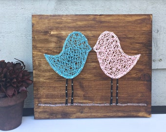 Love Birds String Art, MADE TO ORDER