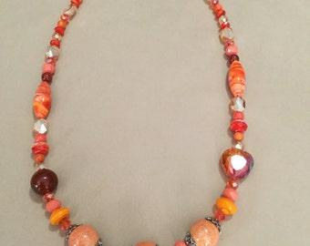 La'Faye Regal Designs by Dana Orange/ Peach Necklace