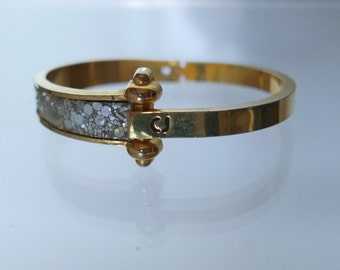 Charles Jourdan vintage gold bracelet and glitter