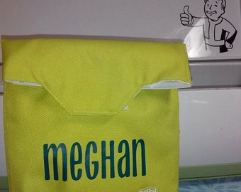 Custom Re-usable Sandwich Bag. Customize with any name!