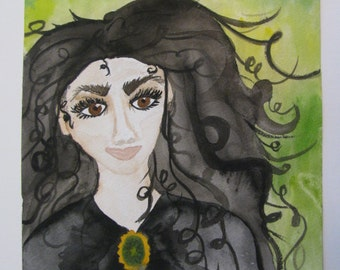 Bellatrix Lestrange Watercolor Original Harry Potter fan art