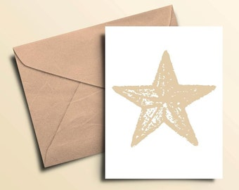Starfish Note Cards - Set of 10 With Envelopes