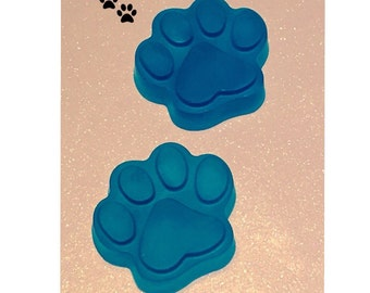 4 Blue Paw Print Hand and Body Soap