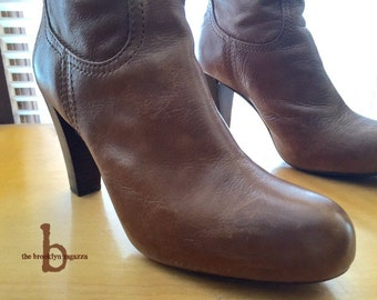 Frye Riding Boots, Knee-High back-zip  (Vintage Whiskey Leather, size 9.5)
