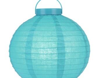 "12"" ""Budget Friendly"" Battery Operated Led Paper Lantern - Turquoise - 12BTL-TU"