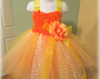 SUMMER SALE Sunrise - Beautiful New Beginnings, Tutu Dress - Fits Toddler sz 18 months - 2T * Flower Girl, Pageants, Birthdays