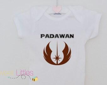 Star wars Inspired Onesies/Padawan/Star Wars Fanatic/Geek/Nerd/Cute/The Dark Side/Birthday Gift/Fan apparel/Movie/Classicc