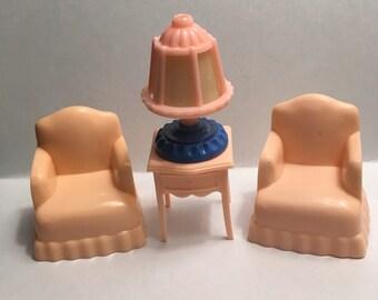 Vintage Jaydon Dollhouse Furniture  lot-1950's plastic Miniatures