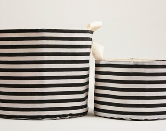 Storage basket, Striped , Storage bin, Fabric basket, Bathroom storage, House warming gift,Home organise, Closet storage bin,Nursery storage