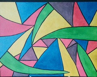 Abstract shape painting