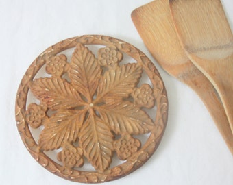 Vintage French Cast Iron Trivet
