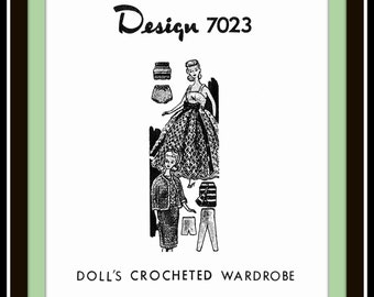 """PICK any 3 Crocheted and Knitted Barbie® Doll Clothes Patterns for 11-1/2"""" Dolls VINTAGE MO Designs"""
