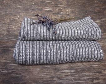 Set of 2 Linen/Cotton Bath Towel, Eco Linen Towel, Linen Towel, Linen Gift