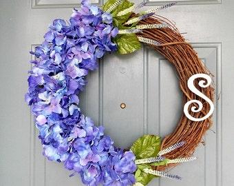 Summer Wreath - Front Door Wreath - Summer Wreath for Door - Door Wreath - Grapevine Wreath - Personalized Wreath - 20 Inch Wreath