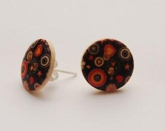 Round earrings various fantasies