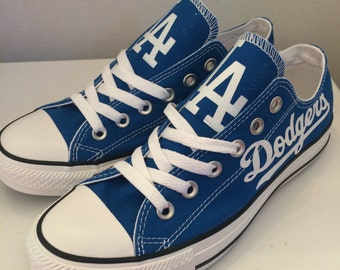 La Dodgers converses tennis shoes
