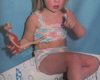 crochet, pattern, toddler, baby, bathing suit, crochet pattern, crochet swim suit, baby bikini, summer beach wear, shorts and top