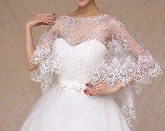 Lace elegant cape shawl