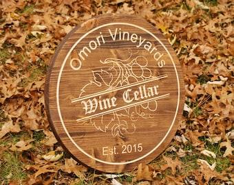 Wine Barrel Decor Sign Unique Wine Sign Personalized Bar Sign Personalize Barrel Bar Sign Gift Winery