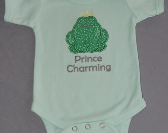 Prince Charming Green Frog Onesie