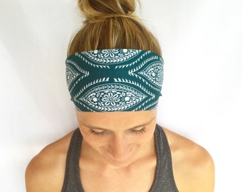 Yoga Headband - Running Headband - Workout Headband - Fitness Headband  - Pine Tree