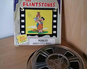 Flintstones 1963 Screen Gems 8mm Home Movie - Pebbles! Daddy's Little Beauty