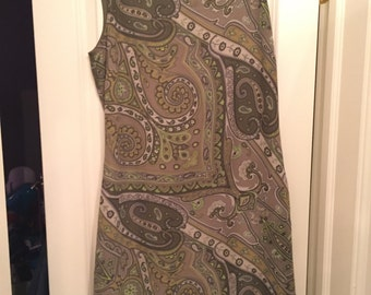 Vintage Green Paisley Dress