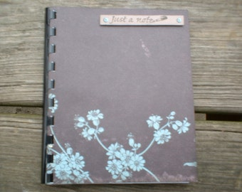 "Small Brown ""Just A Note"" Notebook Journal"