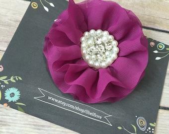 Purple Hair Clip, Hair Barrette, Baby Infant Child Toddler Girl Hair Clip, Hair Flower, Clip On Flower, Purple Flower Hair Clip