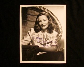Gene Tierney Vintage Autographed Autograph Hand Signed Hollywood Film Movie 8x10 Photograph