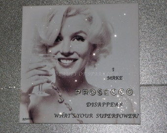 "Stunning Marilyn Monroe Diamond Collection Canvas Print, wall art. By D.Bishop. 20""x20"""