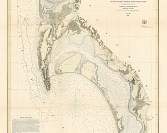 San Diego Harbor Nautical Chart 1857