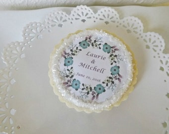 Edible Wedding Favors- Custom Sugar Cookies Personalized