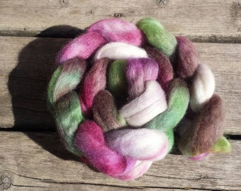 Wensleydale Roving - 4oz Hand Painted Roving, Hand Dyed Roving, Wensleydale Roving | Spinning Fiber | Felting Fiber - Ready to ship