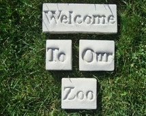 "Welcome To Our Zoo Decor (Featuring Everwood Garden Art's ""Poetic Pavers"")"