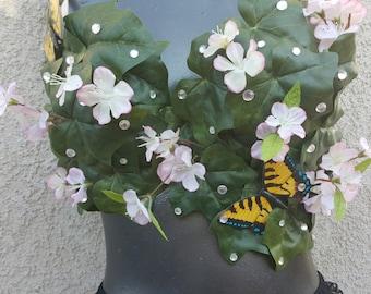 mother nature rave bra- woodland fairy festival bra- eve leaf bra