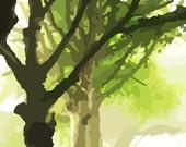 SALE, Avenue of Trees, Row of Trees Print, Sunlit Trees, Tree Print, Summertime, Summer Print, Digital Tree Print, Digital Photo Print, 14
