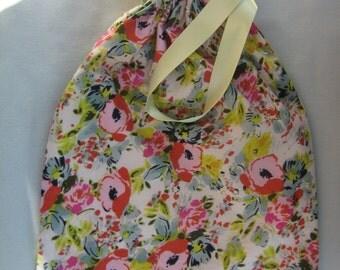 Floral shoe bag